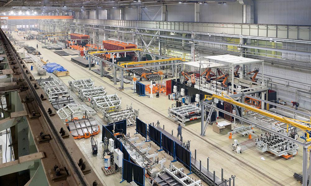 uControl sichert gleichbleibend hohe Produktqualität bei minimaler Fehlerquote, wie in dieser Industrieanlage für die Herstellung von großen Mechanismen, Maschinen und Strukturen